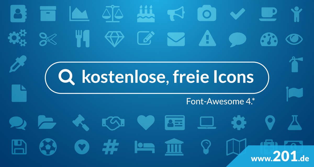 Font-Awesome-Finder: finde kostenlose, freie Icons